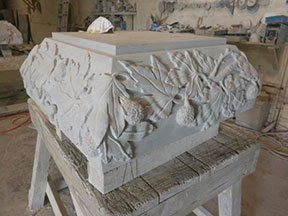 Custom Stone Carving by Site Design Pros